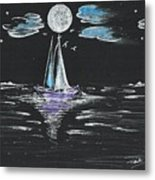 Night Fishing Metal Print
