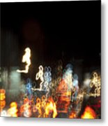 Night Forest - Light Spirits Limited Edition 1 Of 1 Metal Print