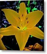 Night Glow Lily Metal Print