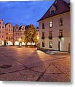 Night In City Of Jelenia Gora In Poland Metal Print