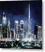 night in Dubai City Metal Print