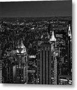 Night In Manhattan Metal Print
