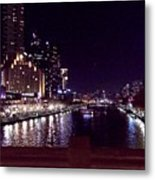 Night In The City Metal Print