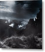 Night Landscape. Australian Mountain View Metal Print