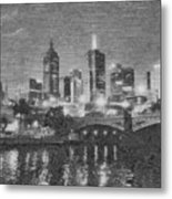 Night Landscape In Melbourne Metal Print