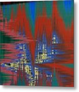 Night Life In The City Metal Print