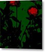 Night Magic Flowers Metal Print