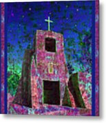 Night Magic San Miguel Mission Metal Print
