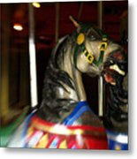 Night Mares At The Central Park Carousel 3 Metal Print