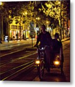 Night Moods Streets Of San Jose   Metal Print