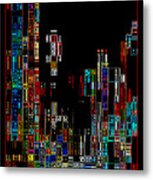 Night On The Town - Digital Art Metal Print by Carol Groenen