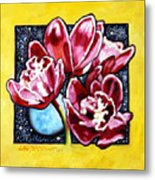 Night Orchids Metal Print