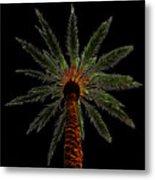 Night Palm Metal Print