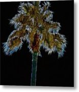 Night Palm Metal Print