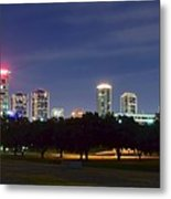 Night Pano Of Fort Worth Metal Print