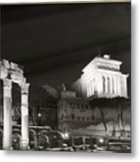 Night Panorama In Rome Metal Print