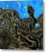 Night Petrified Metal Print