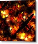 Night Raid - Lancaster Bomber Metal Print