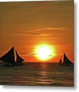 Night Sail Metal Print