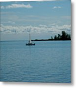Night Sailing At Port Hope Bay Michigan Metal Print