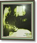 Night Search No. 14 With Decorative Ornate Printed Frame. Metal Print
