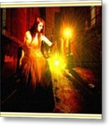 Night Search No. 20 L B With Decorative Ornate Printed Frame. Metal Print