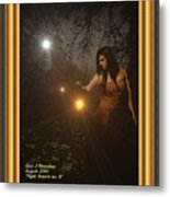 Night Search No. 8 H A With Decorative Ornate Printed Frame Metal Print