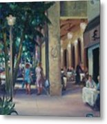 Night Shoppers Metal Print