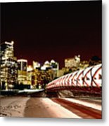 Night Shots Calgary Alberta Canada Metal Print