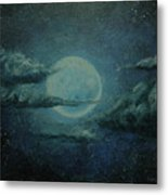 Night Sky Peek-a-boo Metal Print