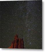 Night Sky Red Rock 2733 Metal Print