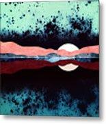 Night Sky Reflection Metal Print