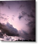 Night Storm Metal Print by Amanda Barcon