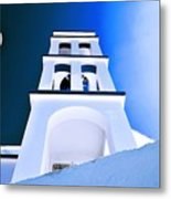 Night Taking Over The Day Of Church In Greece Crete 2 Metal Print
