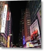 Night Time At Times Square Metal Print