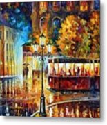 Night Trolley Metal Print