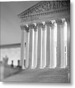 Night Us Supreme Court Washington Dc Metal Print
