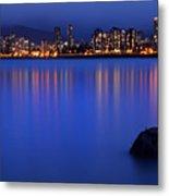 Night Vancouver Cityscape Metal Print