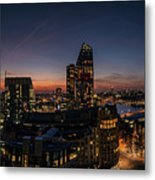 Night View Of The City Of London Metal Print