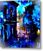 Night Walking In New Orleans Metal Print