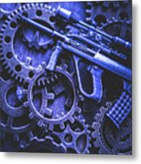 Night Watch Gears Metal Print