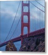 Nightfall Over Golden Gate Metal Print