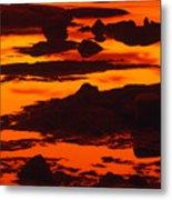 Nightfall Silhouettes Metal Print