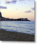 Nightfalls Over The Mediterranean Metal Print