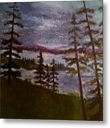 Nightime Rangely Lake Maine Metal Print