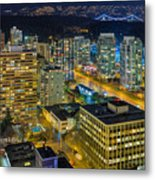 Nightlife On The Other End Of Robson Street Metal Print