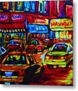 Nightlights On Main Street Metal Print
