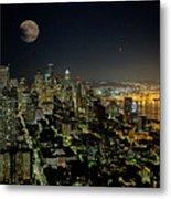 Nightlights Seattle Washington  Metal Print