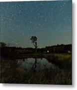 Nightscape And Dam Landscape Metal Print