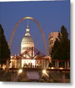 Nighttime At The Arch Metal Print